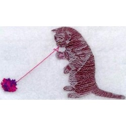 kotě s klubíčkem