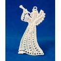 Vánoční ozdoba anděl s trubkou-1