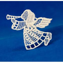 Vánoční ozdoba anděl s trubkou-2