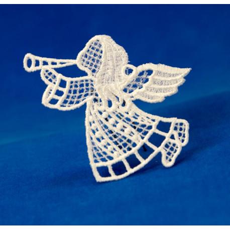 Vánoční ozdoba anděl s trubkou 2D