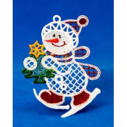 Vánoční ozdoba 2D SNĚHULÁK-2