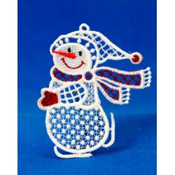 Vánoční ozdoba 2D SNĚHULÁK-3