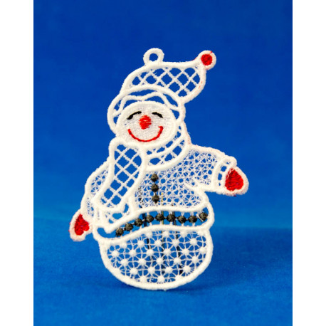 Vánoční ozdoba 2D SNĚHULÁK-4