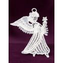 Vánoční ozdoba s andělem 2D