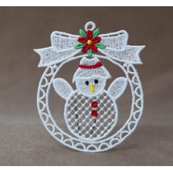 Vánoční ozdoba s mašlí 2D