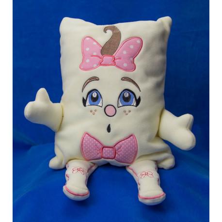 Tonička s růžovou mašlí