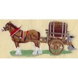 tažný kůň s vozíkem