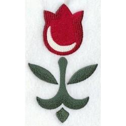 tulipán - venkovský vzor