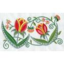 motiv s tulipány - polštář, ubrus,