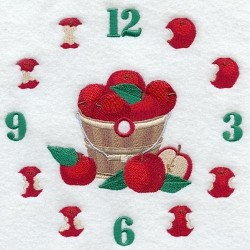 ciferník s jablky