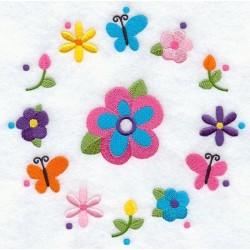ciferník s květy
