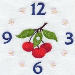 ciferník s třešněmi