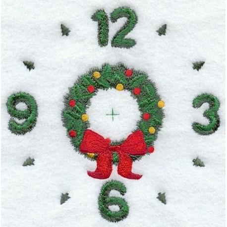 ciferník s vánočním věncem