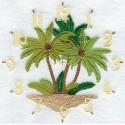 ciferník s palmami