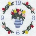 ciferník s tulipány
