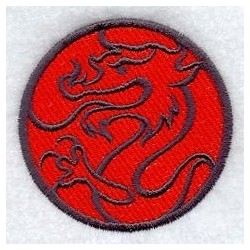 drak v kruhu - obrys