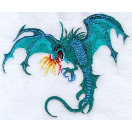 drak s ohnivým dechem
