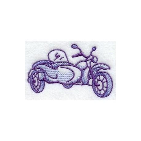 motocykl se sajdkárou - obrys