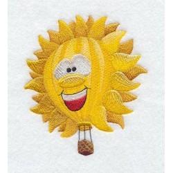 horkovzdušný balón-slunce
