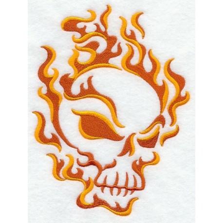 ohnivá lebka