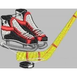 brusle a hokejka